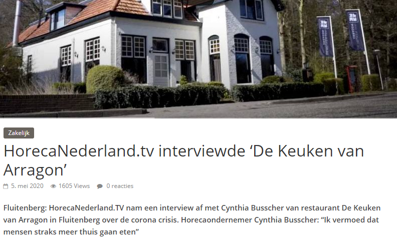 HorecaNederland.TV interviewde de 'De Keuken van Arragon'